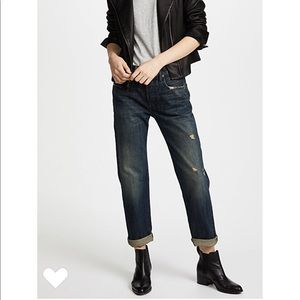 Vince Cuffed Selvedge Union Slouch Jeans Heirloom